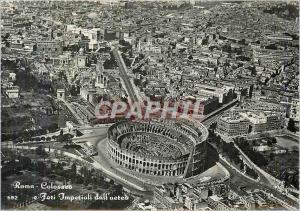 Moderne Karte Roma Colosseo e Fori Imperiali dall'aeteo