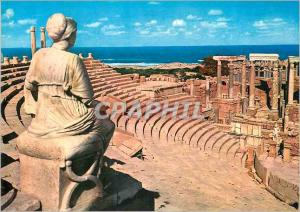 Moderne Karte Leptis Magna Leptis Magna