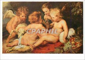 Moderne Karte Wien Osterreichisches Galerie Peter Paul Rubens (1577 1640) Jesus Saint Jean et deux Anges