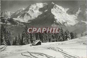Moderne Karte St Gervais les Bains (Hte Savoie) Paysage d'Hiver au Plateau des Bettex