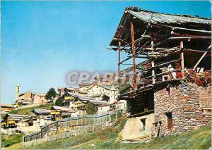 Moderne Karte Saint Verant (2042 m) Les Hautes Alpes Le plus haut Village d'Europe Maisons Typiques du Village