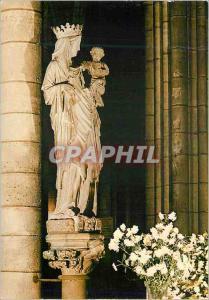 Moderne Karte Paris et ses Merveilles La Cathedrale Notre Dame (1163 1260) La Statue de Notre Dame de Paris