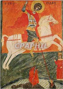 Moderne Karte St Georges Icon de l'Asie Mineure 16e Siecle