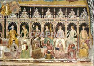 Moderne Karte Firenze S M Novella Cappellona degli Spagnoli Andrea da Firenze 1365 Triomphe de S Tommaso d'Aqu