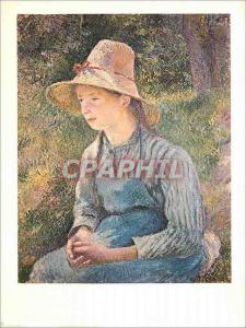 Moderne Karte National Gallery of Art Washington Peasant Gil with a Straw hat (1881) Camille Pissarro