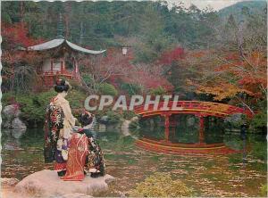 Moderne Karte Maiko The Junior Geisha Girl in Kyoto