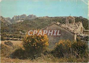 Moderne Karte Les Belles Images de Provence Vieille Chapelle Romane et Les Dentelles de Montmirail a l'Horizon