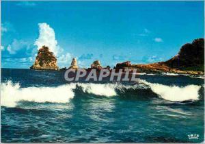 Moderne Karte Guadeloupe La Pointe des Chateaux