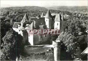 Moderne Karte Sainte Mondane (Dordogne) Chateau de Fenelon XIVe et XVIIe Siecles Facade