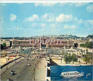 Moderne Karte Paris Couleurs et Lumiere de France La Place et le Pont de la Concorde