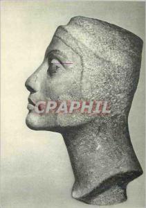 Moderne Karte Sculpture Egyptienne Musee du Caire Profil d'une tete inachevee de Neferliti