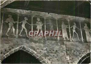Moderne Karte Plouha (C du N) Chapelle de Kermaria Isquit L'Interieur Fresque La Danse Macabre