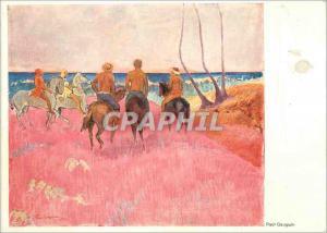 Moderne Karte Museum Folkwang Essen Paul Gauguin 1848 1903 Reiter am Strande