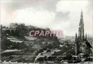 Moderne Karte Edinburgh Castle National Gallery and Scott Monument
