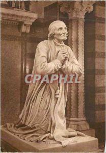 Moderne Karte Chapelle du Coeur du Saint Cure d'Ars La Statue de Cabuchet (Vue de profil)