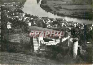 Moderne Karte Trevoux (Ain) Les Tours de l'Ancienne Forteresse La Ville et la Vallee de la Saone