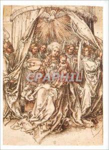 Moderne Karte Louvre Departement des Arts Graphiques Albrecht Durer Vierge a l'Enfant avec le Saint Esprit