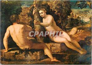 Moderne Karte Jacopo Tintoretto Adam et Eve Venise Galerie de l'Academie (Italie)