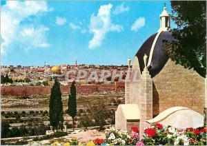 Moderne Karte Jerusalem Sanctuaire de Dominus Flevit (Quant il Fut Proche a la vue de la Ville Il Pleura sur e