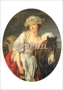 Moderne Karte Louvre Departement des Peintures J B Greuze 1725 1805 La Laitiere