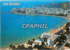 Moderne Karte San Antonio Ibiza Isla Blanca Vista aerea