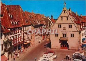 Moderne Karte Obernai (Bas Rhin) L'Alsace Couleurs et Lumiere de France Place de l'Hotel de Ville