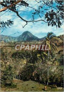 Moderne Karte Martinique Paysage du Morne Vert