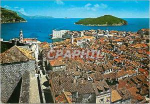 Moderne Karte Dubrovnik Panorama General View