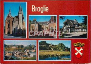 Moderne Karte Broglie (Eure) l'Eglise Chateau de la Varende