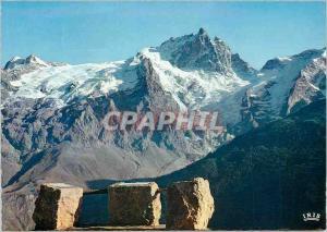 Moderne Karte En Oisans (H A) Face Nord de la Meije (3974 m) et le Glacier du Tabuchet