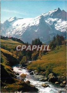 Moderne Karte Le Massif de L'Oisans La Meije (3883 m) depuis le Chazelet