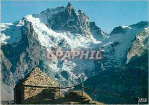 Moderne Karte En Oisans (H A) La face nord de la Meije (3974 m) et le Glacier du Tabuchet depuis le Chazelet