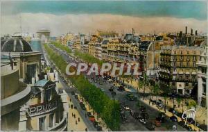Moderne Karte Paris et ses Merveilles Avenue des Champs Elysees
