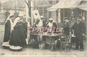 REPRO Crue sur Seine Janvier 1910 Maisons Alfort Dames de la Croix Rouge