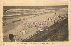 Ansichtskarte AK Mimizan Plage (Landes) La Mer et la Plage
