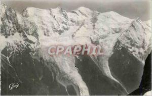 Moderne Karte Chamonix Mt Blanc (1050 m) Hte Savoie Le Mont Blanc (4807 m) Croisement des Bennes du Teleferiqu