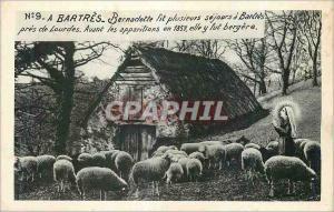 Ansichtskarte AK A Bartres Bernadette fit plusieurs Sejours a Bartres pres de Lourdes Moutons