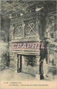 Ansichtskarte AK Oiron (D S) Le Chateau Cheminee de la Salle des Gardes