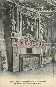 Ansichtskarte AK Oiron (Deux Sevres) Le Chateau Cheminee du Cabinet des Muses