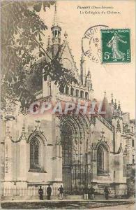 Ansichtskarte AK Thouars (Deux Sevres) La Collegiale du Chateau