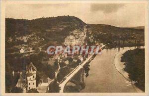 Ansichtskarte AK La Roque Gageac La Dordogne Pittoresque et le Chateau de la Malartrie