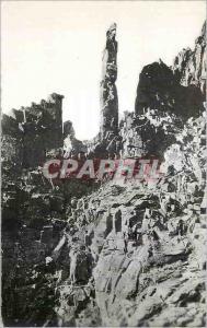Moderne Karte Pic du Canigou alt 2785 m Cote Sud La cheminee avec son Clocher et son aiguille