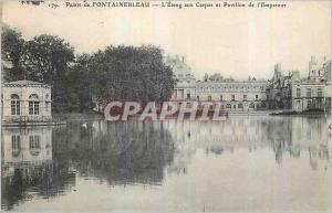 Ansichtskarte AK Palais de Fontainebleau L'Etang aux Carpes et Pavillon de l'Empereur
