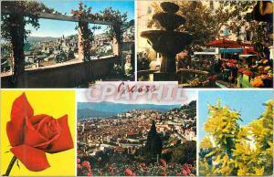 Moderne Karte Grasse La Cote d'Azur Vue Generale Marche aux Fleurs Vue Generale