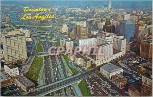 Moderne Karte Aerial view of Downtown Los Angeles and the Harbor Freeway