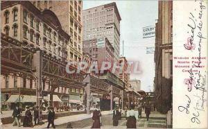 Ansichtskarte AK Wabash Avenue North From Monroe Street Chicago