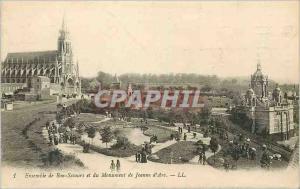 Ansichtskarte AK Ensemble de Bon Secours et du Monument de Jeanne d'Arc