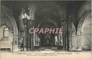 Ansichtskarte AK Ardentes (Indre) Interieur de l'Eglise St Martin (Mon hist XIe siecle)