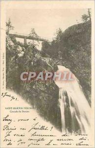 Ansichtskarte AK Saint Martin Vesubie Cascade du Bereon (carte 1900)