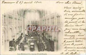 Ansichtskarte AK Les Moines a la messe Pontificale (carte 1900)